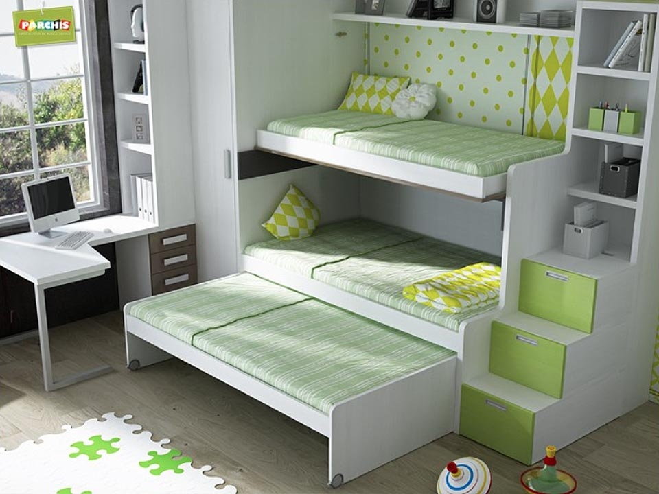 Dormitorios con camas abatibles para paredes de pladur - Muebles ...